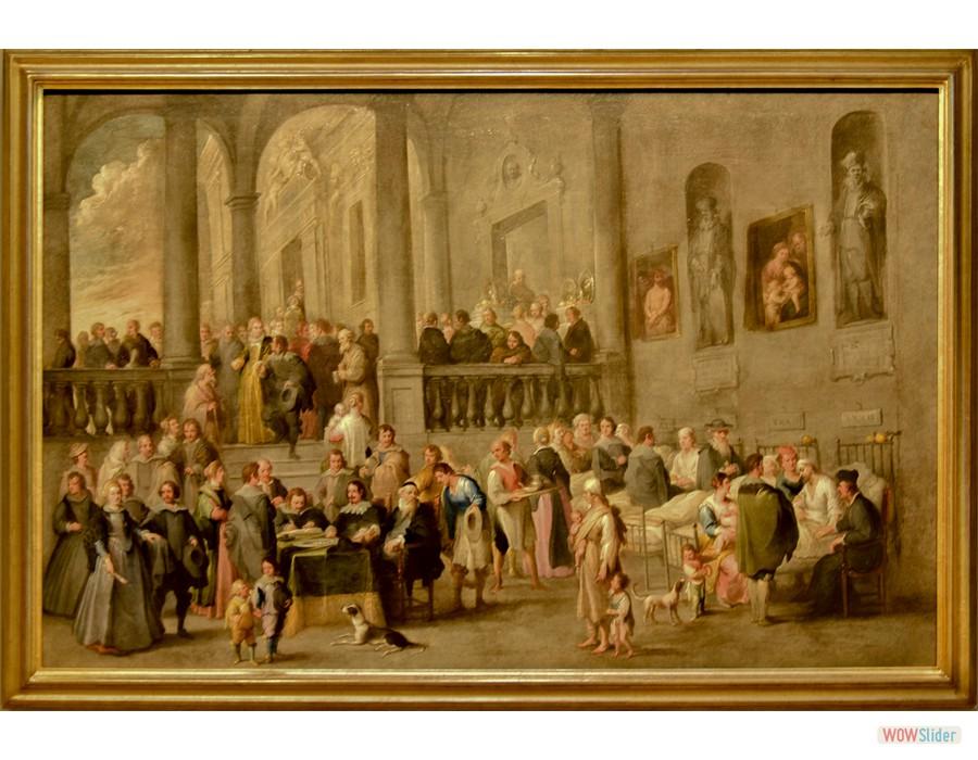 Cornells de Wael (Anvers, 1592 - Rome, 1667° Assister les malades, vers 1640)