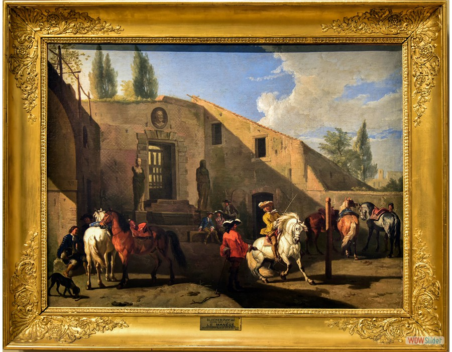 Pieter van Bloemen (Anvers, 1657 - 1720) Le manège