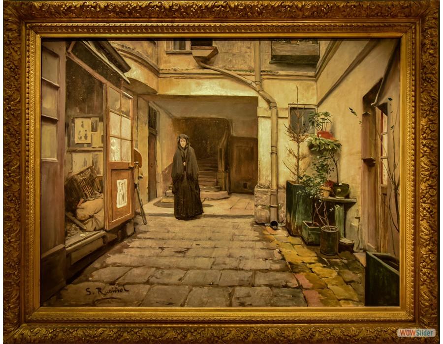 Santiago Rusinol (Barcelone, 1861 - Aranjuez, 1931) Le Mont de piété, 1889