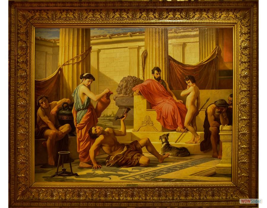 Luigi Mussini (Berlin, 1813 - Sienne, 1888) L'Education à Sparte, 1869